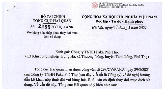 1357/QĐ-TCHQ ngày 18/05/2021 - Bảng mã loại hình xuất khẩu, nhập khẩu và hướng dẫn sử dụng.